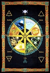 Pagan Wheel of the Year Tapestry