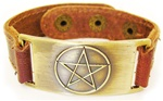 PENTAGRAM LEATHER BAND BRACELET