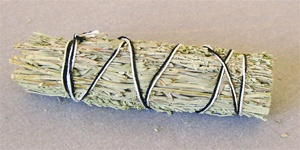 NARROW LEAF SAGE SMUDGE STICK 4 INCH