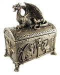CELTIC DRAGON HINGED TREASURE CHEST