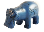 BLUE FAIENCE HIPPO