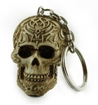 Tribal Celtic Skull Key Chain