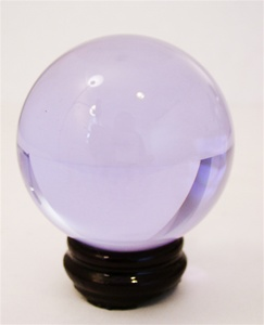 80mm AMETHYST TINTED CRYSTAL BALL