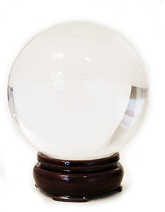 110mm LEADED GLASS CLEAR CRYSTAL BALL