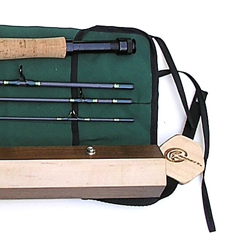 Gift rod wood case gapen wood rod case collector for Fishing rod cases
