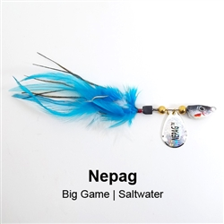 Nepag Saltwater Inland fishing spinner stripers trout