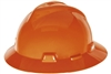 MSA 454734 Orange V-Gard Slotted Hard Hat With Staz-On Suspension