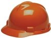 MSA 475361 Orange V-Gard Non-Slotted Cap With Fas-Trac III Suspension