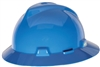 MSA 475368 Blue V-Gard Slotted Hard Hat With Fas-Trac III Suspension