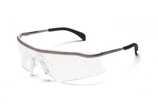 crews t3110af triwear metal antifog safety glasses clear lens platinum frame
