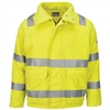 Bulwark JMJ4HV Yellow/Green CoolTouch 2 Hi Vis Lined Bomber Jacket With Reflective Trim