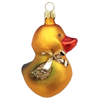 Gold Duck W/Bow  2.2""