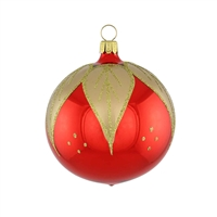 Red Goldleaf Ball  2.2""