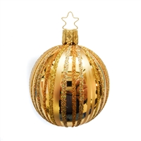 Inge Glas Ball Fancy Stripes Inka Gold 2.75""
