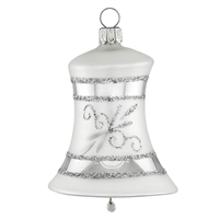 Inge Glas Silver Bell with white top  2.7""