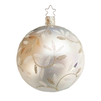 Inge Glas Ball Delights White 6cm