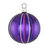 Ball Fancy Stripes Purple  3.2""