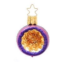 Inge Glas Reflector Ball Purple With Gold/Orange 2""