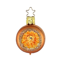 Inge Glas Reflector Ball Orange with Gold-orange inside  2""