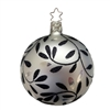 Inge Glas Ball Elegant Motion White Black 8cm