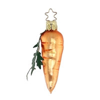 Inge Glas Carrot With Leaf  4.7""