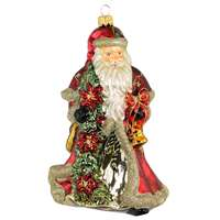 Santa With Christmas Star Wreath Exclusive  6.5""
