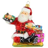 Santa With Toy Train Exclusive  5""