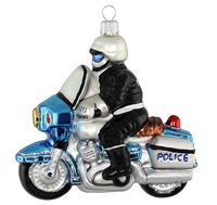 "Police On Motorcycle  4.25""T"