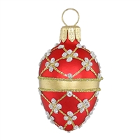 Red Gold Faberge Inspired Egg  2.2""