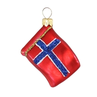 "Mini Flag Norway  1.7""W"