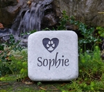 5lb Sage Cobblestone Pet Memorial