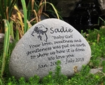 Extra large pet memorial river stone