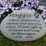 Rainbow Bridge Poem Memorial Stone