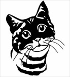 American Tabby Cat Head memorial graphic