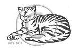 Tabby Cat Sleeping memorial graphic