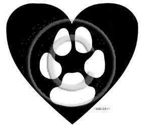 Dog Paw in Heart memorial graphic