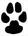 Dog Paw memorial graphic