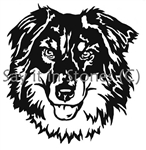 Border Collie graphic, apetmemorialcom