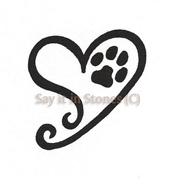 A Heart Swirl with Paw