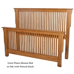Oak Great Plains Mission Bed