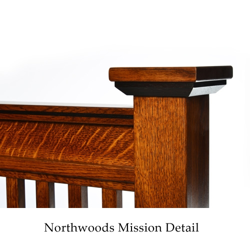 Quarter Sawn Oak Northwoods Mission Bed