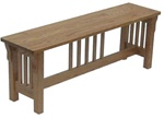 "Amish Furniture Harmony Mn 40"" Oak Bench"