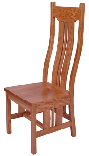 Maple Colonial Dining Room Chair Without Arms