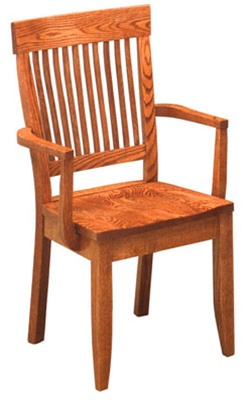 quarter sawn oak harvest dining room chair with arms. Interior Design Ideas. Home Design Ideas