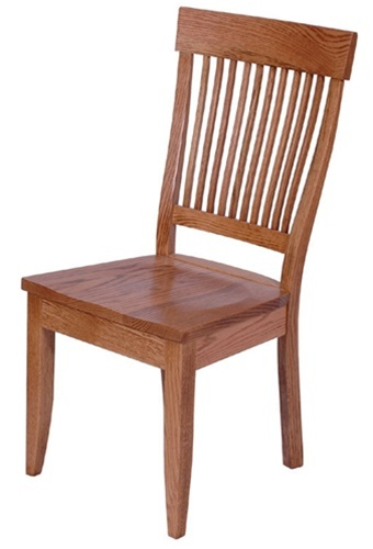 Mixed Wood Harvest Dining Room Chair Without Arms