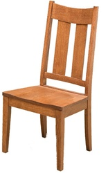 Oak Railroad Dining Room Chair, Without Arms