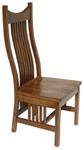 Oak Western Dining Room Chair, Without Arms