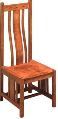 Cherry Zen Dining Room Chair Without Arms