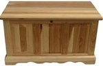 "Queen Hickory Hope Chest, 64"" x 22"" x 22"""