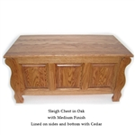 Oak Sleigh Chest